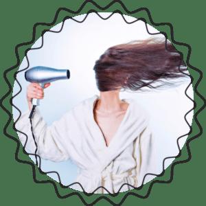 сушить жирные волосы