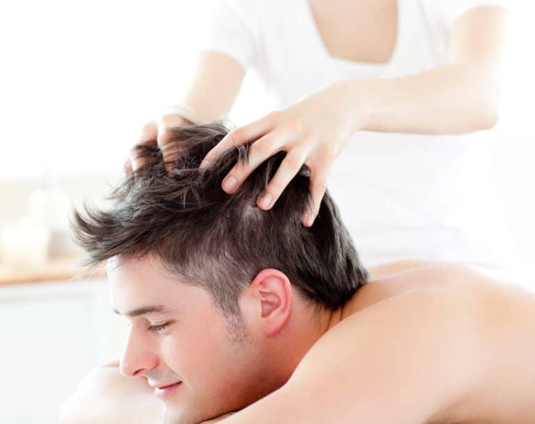 массаж головы руками против выпадения