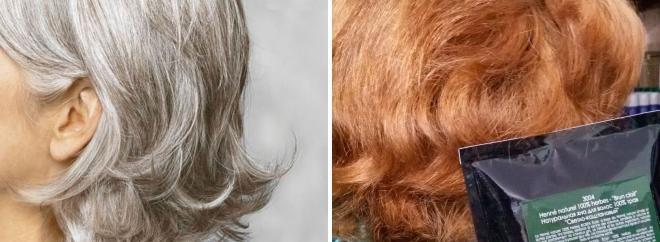 хна окрашивание седых волос
