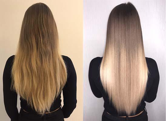 как выглядят волосы после кератинового выпрямления