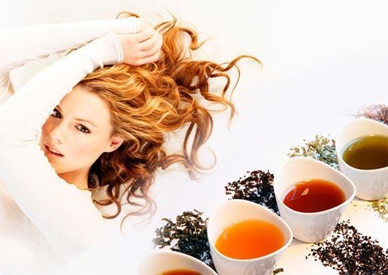 хна с чаем для волос