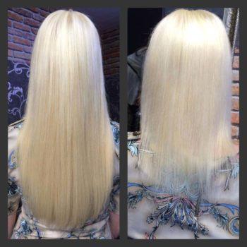как снять нарощенные капсульные волосы
