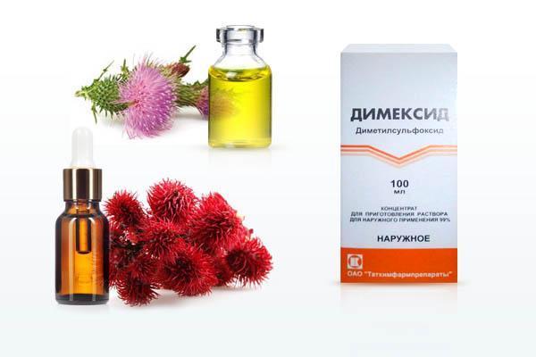 маска для волос димексид и репейное масло