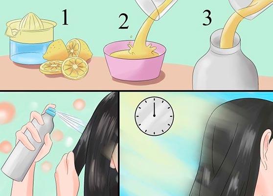 как осветлить волосы лимоном на солнце