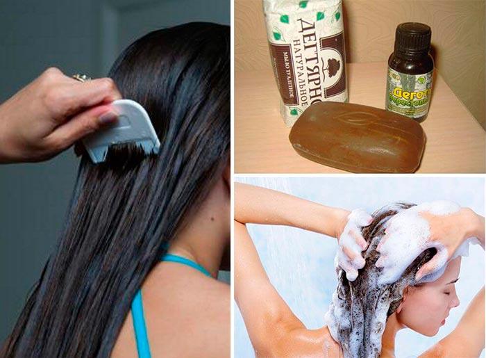 Дегтярное мыло для волос от вшей