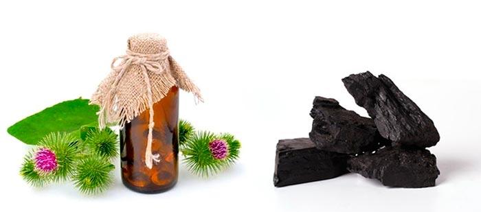 Мумие с репейным маслом для волос