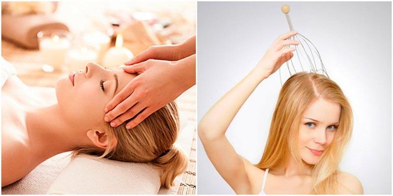 техника массажа головы для роста волос